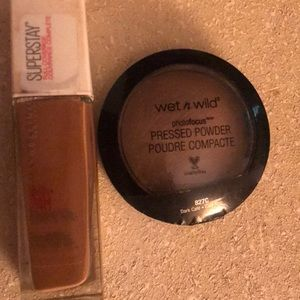 Maybelline Foundation and Wet n Wild powder Combo